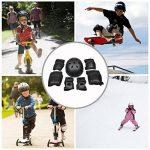 Kit de protections 7 pièces Adulte Coudières Protège-poignet Genouillères avec Helm Adapter au Skate-board, Vélo, Roller, Patins à glace ( Unisexe, S/ M /L de la marque EarthSave image 1 produit