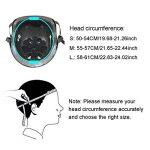 Kit de protections 7 pièces Adulte Coudières Protège-poignet Genouillères avec Helm Adapter au Skate-board, Vélo, Roller, Patins à glace ( Unisexe, S/ M /L de la marque EarthSave image 3 produit