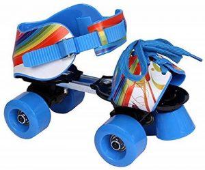 L.A. Sports Patins à roulettes réglables pour enfant bleu/rouge, Taille28–37- de la marque L.A. Sports image 0 produit