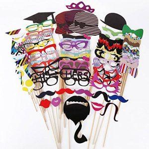 LeScorecor TM 76pcs DIY Photo Booth Props moustaches sur un bâton fête de mariage de Noël d'autres personnes coloré Camera Props vente de la marque image 0 produit