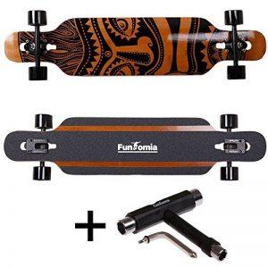 Longboard FunTomia Flex 3 - En bambou et fibre de verre - Avec roulement à billes Mach1 ABEC-11 - Avec T-tool de la marque FunTomia image 0 produit