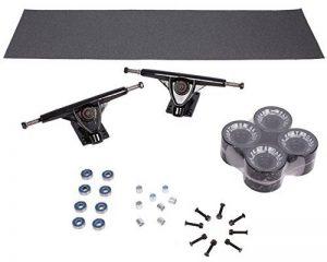 Lot de 4 roues de longboard noir 70 x 50 x 8 mm/80A roulement à billes aBEC - 7 vis-produit neuf de la marque Selltex image 0 produit