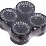 Lot de 4 roues de longboard noir 70 x 50 x 8 mm/80A roulement à billes aBEC - 7 vis-produit neuf de la marque Selltex image 1 produit