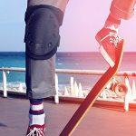Lot de genouillères de sport avec sangles longues réglables, protection contre les blessures pour skateboard, patinage, roller, hoverboards, sports extrêmes et moto de la marque Freedom Deck image 3 produit