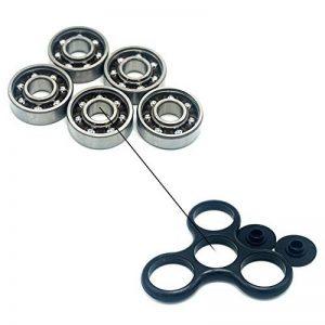 Luckcrazy Lot de 5 roulement à billes en acier 608 pour Tri-spinner et hand spinner de la marque LUCKCRAZY image 0 produit