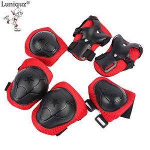 Luniquz Lot de 6 enfants de protection Gear Set pour Patinage, Professionnel genou/coude/poignet coussinets protecteurs de la marque Luniquz image 0 produit