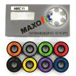 MAXOfit Lot de 8 roulements ABEC 11 8 coloris pour longbaord,waveboard et skateboard de la marque MAXOfit image 1 produit
