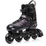 METEOR® Area Black: Les enfants Rollers ABEC 7 carbone, kinderin Liner Rollers avec taille réglable de la chaussure: S M L – S (30–33)-M (34–37) L (38–41) de la marque meteor image 2 produit
