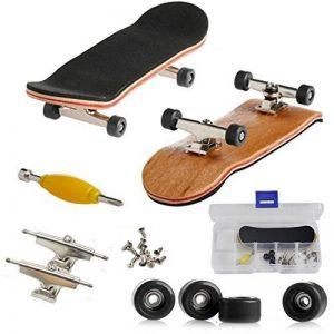 Mini-touche, professionnel planche à roulettes Doigt pour Tech Deck érable bois bricolage Assemblée Skate Boarding jouet jeux de sport enfants Noël cadeau par AumoToo de la marque AumoToo image 0 produit