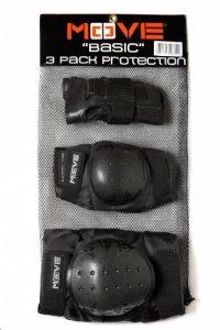 Move - Pack de 3 protections pour roller/skateboard pour enfant - Noir de la marque Move image 0 produit
