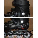 Patins à roulettes pour adultes Patins de glace à une rangée Réglable Taille Mâle et femelle Chaussures lisses Noir de la marque liubingxie image 1 produit