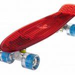 Ridge Blaze Mini Cruiser Skateboard Skate Transparent avec Roues Lumineuses LED: Planche a Roulettes complet de la marque Ridge image 1 produit
