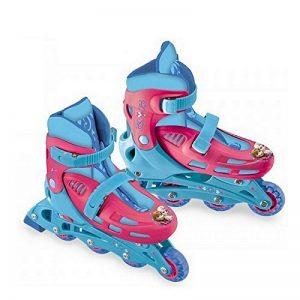 Rollers en ligne patins à roulettes taille du 33 au 36 réglables 2 fois 3 roues et freins Disney la reine des neiges frozen de la marque disney ndiscount image 0 produit