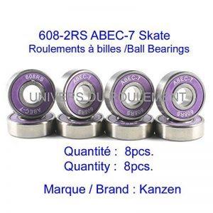 ROULEMENT SKATE SK8 608 8x22x7 ABEC 7 (8pcs) ACIER ULTRA SPIN TROTTINETTE de la marque Kanzen image 0 produit