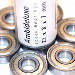 Roulements ABEC 7 - Speed Bearings 8x 608 ZZ – Roulements à billes de qualité pour Roller, Skateboard, Longboard , Waveboard par Ambideluxe de la marque Ambideluxe image 1 produit