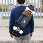 Sac à dos Skate board cruisers 26 et 27 inch planche à roulettes en plastique - Gris de la marque skate-home image 1 produit