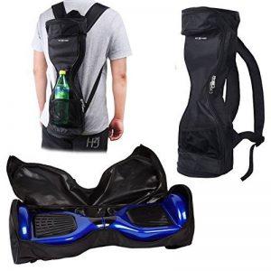 Sac à Dos étanche pour Transporter/Ranger votre drifting board - poche en maille - bandouillère détachable-poignée - double fermeture à glissière (Noir) de la marque ECO-FUSED image 0 produit