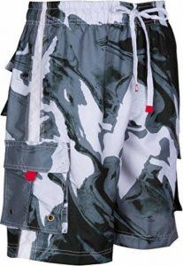 Sakkas Hommes Short Conception Vagues Multicolore Patins Planche de Surf / Maillot de Bain (Tailles et Couleurs Variées) de la marque Sakkas image 0 produit