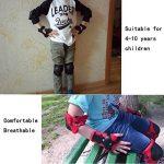 Set de protection enfant avec 2x Genouillères, 2x Protège poignets, 2x Coudière pour sport de skateboard, roller, trottinette, scooter, vélo, patin à glace etc,multicolore(S:48-54CM) de la marque Dolami image 6 produit