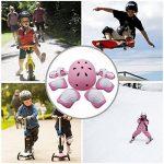 Sets de Protection 7 pièces, EarthSave Genouillère Coudières Protège Poignet Casque pour Skateboard Snowboard Ski Scooter Vélo Roller Patin a Roulette pour Enfants de la marque EarthSave image 3 produit