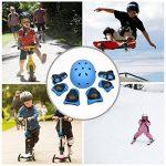 Sets de Protection 7 pièces, EarthSave Genouillère Coudières Protège Poignet Casque pour Skateboard Snowboard Ski Scooter Vélo Roller Patin a Roulette pour Enfants de la marque EarthSave image 1 produit