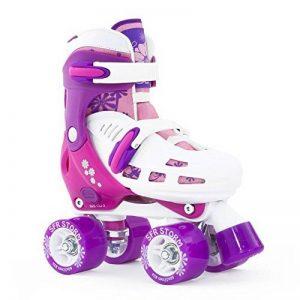 SFR réglable patins à roulettes quad pour enfant Racing Storm II–Blanc/Violet/Rose–Taille M de la marque SFR image 0 produit