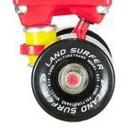 Skateboard LAND SURFER® Rétro Cruiser avec planche de 56 cm - Roulements ABEC-7 – Roues de 59 mm en polyuréthane coloré ou transparent + sac de transport de la marque Land Surfer image 4 produit