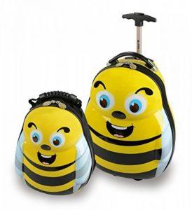 Skykidz Bumblebee Polycarbonate Valise À Roulette avec gratuit Assortis Sac à dos de la marque Skyflite Luggage Ltd image 0 produit