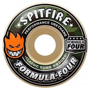 Spitfire Formula Four Classic 99du Covert 52mm Skateboard Wheel 52mm Natural de la marque Spitfire image 0 produit