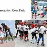 Sunreek pour enfant Genouillères poignet Roller Coude Blading Lames Protections Pad pour patinage comme Fille d'anniversaire, cadeau de Noël Lot de 6(Rose, M) de la marque SUNREEK image 6 produit