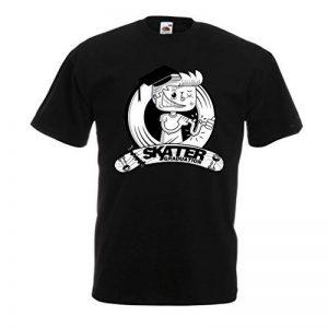 T-Shirt pour Hommes Diplômé Professionnel de l'académie de Patinage - pour Les Patineurs - Skateboard - Longboard, Cadeaux pour Le Patineur de la marque lepni.me image 0 produit