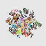 The Mezele Autocollant Lot [100-pcs] Graffiti Autocollant Stickers vinyles pour ordinateur portable, enfants, voitures, moto, vélo, Skateboard bagages, Bumper Stickers hippie autocollants Bomb étanche de la marque Mezele image 4 produit