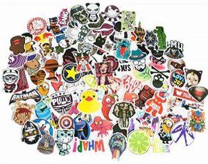 The Mezele Autocollant Lot [100-pcs] Graffiti Autocollant Stickers vinyles pour ordinateur portable, enfants, voitures, moto, vélo, Skateboard bagages, Bumper Stickers hippie autocollants Bomb étanche de la marque Mezele image 0 produit