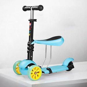 Trottinette pour enfants DWW-Trottinette Scooter pour enfants pliable adapté pour 1-6 ans multifonction peut s'asseoir Walker hauteur réglable en alliage d'aluminium tricycle de haute qualité de la marque Trottinette pour enfants image 0 produit