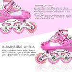 Turefans Rollers pour Enfants/Adolescents Rollers Réglables avec le Rôle Clignotant Patins - Deux Tailles:31-34, 35-38(Rose) de la marque Turefans image 2 produit
