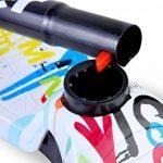 Twist & Roll Trottinettes à 3 roues pour enfant avec lumière LED Freestyle mini patinette scooter,Rose/Bleu/Graffiti(3-10 ans, Max .Charge: 60 kg) + Kit de protection(Guidon réglable en hauteur) de la marque Dolami image 3 produit