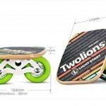 TWOLIONS-Grom Drift Skates,Pro Skates 72 mm * 44 mm roues pu ABEC-7 roulements haut de gamme(gauche & droite) de la marque TWOLIONS image 2 produit
