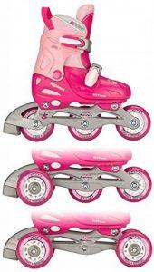Unbekannt enfants Girls Rollers quads Adjustable Hard Bateau, Enfant, Girls quad, Fuchsia/Pink/Silver de la marque Unbekannt image 0 produit