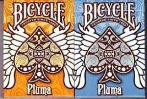 Vélo 2 Planche de longboard Orange/bleu Pluma cartes à jouer avec calculatrice Par nous lecture de carte de la marque US Playing Card Company image 0 produit