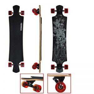 VINGO® Longboard Tête de Mort Drop Through Longboard Rétro Old Skateboard … de la marque fsders image 0 produit