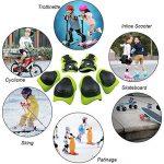 Yakamoz Équipement de Protection des Sports Protège-paume Coudière Genouillère de Skateboard Pad de Sécurité sauvegarde (Genou Coude Poignet) Support Pad Equipement Pour les Enfants de la Bicyclette Rouleau de Vélo BMX Vélo Skateboard Protecteur Pads Gard image 1 produit