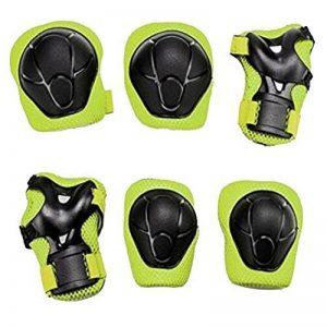 Yakamoz Équipement de Protection des Sports Protège-paume Coudière Genouillère de Skateboard Pad de Sécurité sauvegarde (Genou Coude Poignet) Support Pad Equipement Pour les Enfants de la Bicyclette Rouleau de Vélo BMX Vélo Skateboard Protecteur Pads Gard image 0 produit