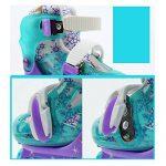 ZZY Enfants Flash Patins Double rangée Réglable Taille Patins à roulettes Quad Bottes Patinage de la marque ZZY image 3 produit
