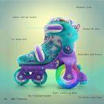 ZZY Enfants Flash Patins Double rangée Réglable Taille Patins à roulettes Quad Bottes Patinage de la marque ZZY image 4 produit